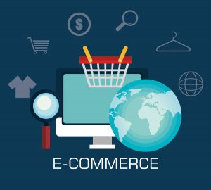Shopping and ecommerce graphic design with icons, vector illustration